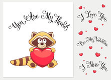 Cartoon Valentine's card Royalty Free Stock Images