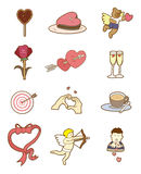 Cartoon Valentine's Day. Vector illustration Royalty Free Stock Images