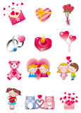 Cartoon Valentine's Day Royalty Free Stock Photography