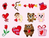 Cartoon Valentine's Day Stock Photos
