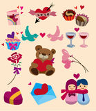 Cartoon Valentine's Day icon Royalty Free Stock Photo