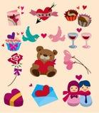 Cartoon Valentine's Day icon. Vector illustration Royalty Free Stock Photo