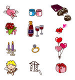 Cartoon Valentine's Day icon Royalty Free Stock Photos