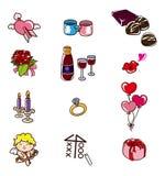 Cartoon Valentine's Day icon. Vector illustration Royalty Free Stock Photos