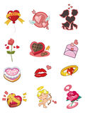 Cartoon Valentine's Day icon Royalty Free Stock Photography