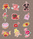 Cartoon Valentine's Day stickers Stock Image