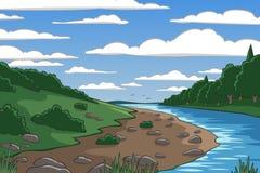 Cartoon valley Royalty Free Stock Image