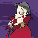 Cartoon vampire Stock Images