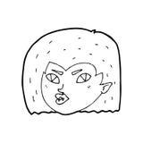 Cartoon vampire face Stock Photography