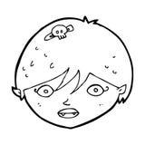 Cartoon vampire face Stock Image