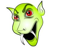 Cartoon Vampire Face Green Royalty Free Stock Photo
