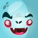 Cartoon vampire face. Halloween vector illustration. Royalty Free Stock Photography