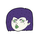 Cartoon vampire face Royalty Free Stock Photo