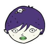 Cartoon vampire face Royalty Free Stock Photography