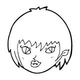 Cartoon vampire girl face Stock Photography