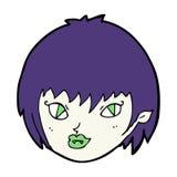Cartoon vampire girl face Royalty Free Stock Photography
