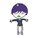 Cartoon vampire girl Stock Image