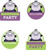 Cartoon Vampire Halloween Graphic Stock Photography