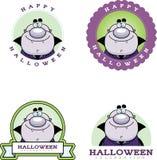 Cartoon Vampire Halloween Graphic Royalty Free Stock Image