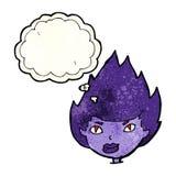Cartoon vampire head with thought bubble Stock Photos