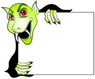 Cartoon Vampire Holding Sign Royalty Free Stock Photos