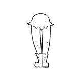 Cartoon vampire legs Stock Photography