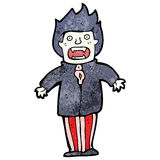 Cartoon vampire man Stock Image