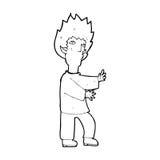 Cartoon vampire man Stock Images