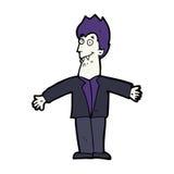 Cartoon vampire man Royalty Free Stock Photo