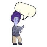 Cartoon vampire man with speech bubble Royalty Free Stock Images