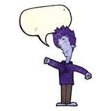 Cartoon vampire man with speech bubble Stock Photography