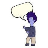 Cartoon vampire man with speech bubble Royalty Free Stock Photo