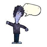 Cartoon vampire man with speech bubble Royalty Free Stock Photos