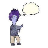 Cartoon vampire man with thought bubble Stock Photo