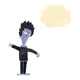 Cartoon vampire man with thought bubble Royalty Free Stock Photography