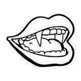 Cartoon vampire mouth Royalty Free Stock Photo
