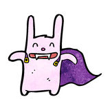 Cartoon vampire rabbit Stock Image
