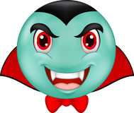 Cartoon Vampire smiley emoticon Royalty Free Stock Photography