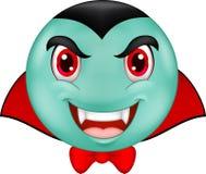 Cartoon Vampire smiley emoticon Royalty Free Stock Photography