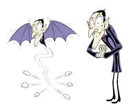 Cartoon vampire Royalty Free Stock Images