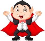 Cartoon vampire waving hand Stock Images