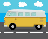 Cartoon van car. Royalty Free Stock Photos