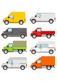Cartoon van truck set Stock Photo