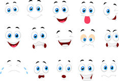 Cartoon of various face expressions Royalty Free Stock Photo