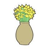 Cartoon vase of flowers Royalty Free Stock Photo