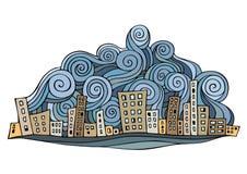 Cartoon vector abstract city Royalty Free Stock Photos