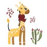 Cartoon Vector African Animals stock illustration