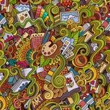 Cartoon vector art and craft seamless pattern Royalty Free Stock Photos