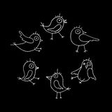 Cartoon Vector Birds Collection royalty free illustration