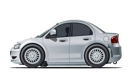 Cartoon vector car Royalty Free Stock Photography